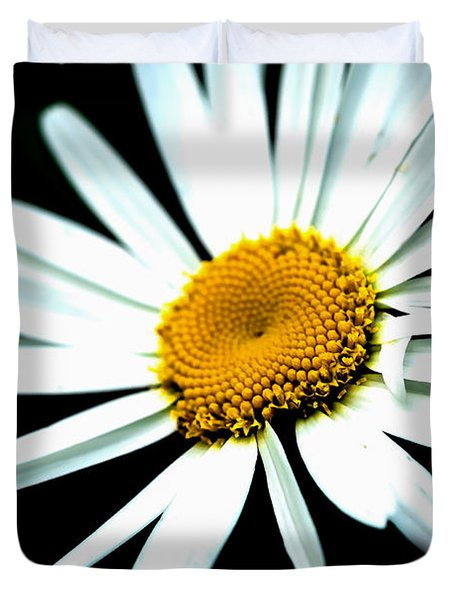 Daisy Flower - White Sun Duvet Cover