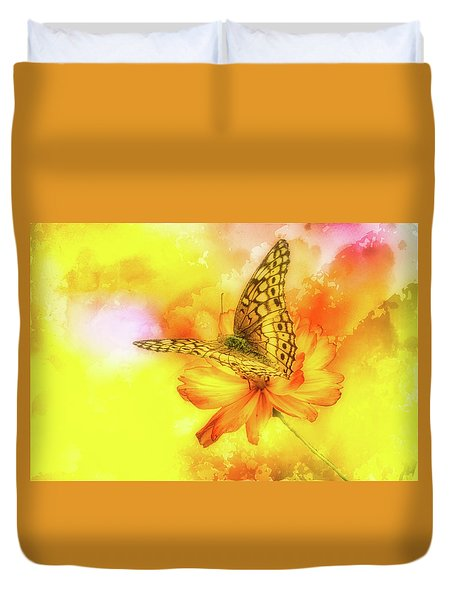 Daisy For A Butterfly Duvet Cover