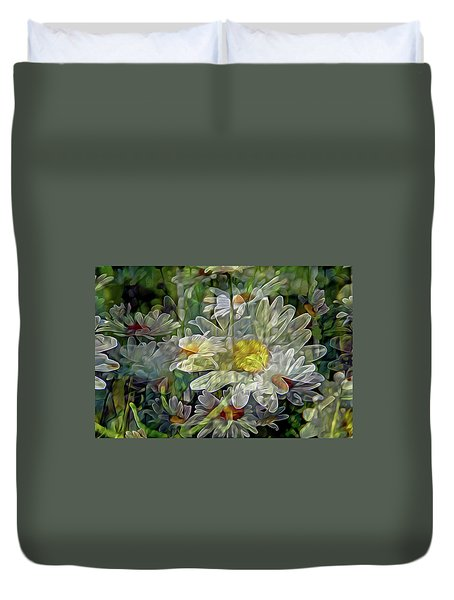 Daisy Mystique 8 Duvet Cover by Lynda Lehmann