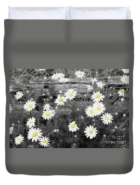 Duvet Cover featuring the photograph Daisy Patch by Benanne Stiens