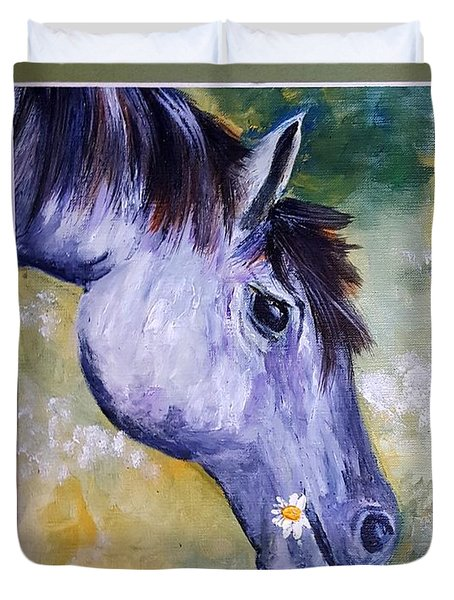 Daisy The Old Mare     52 Duvet Cover
