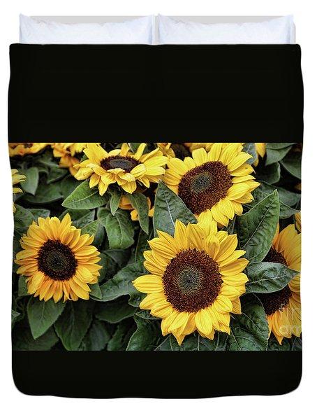 Daisy Yellow  Duvet Cover by Chuck Kuhn