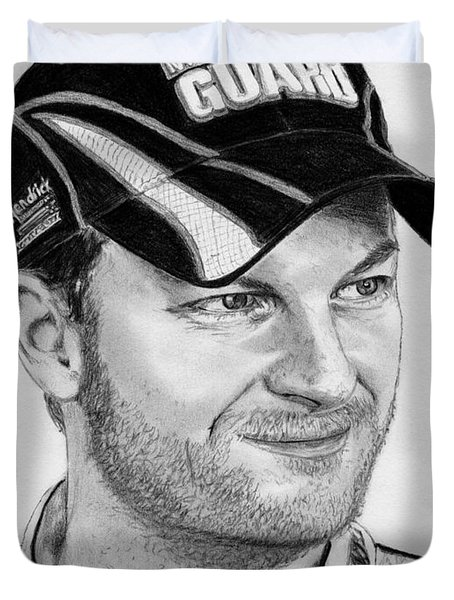 Dale Earnhardt Jr In 2009 Duvet Cover by J McCombie