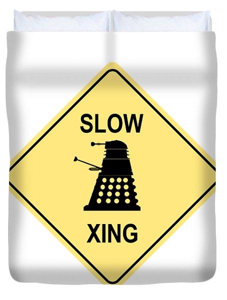 Dalek Crossing Duvet Cover