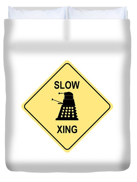Dalek Crossing Duvet Cover