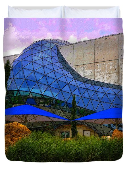 Dali Museum Duvet Cover by David Lee Thompson