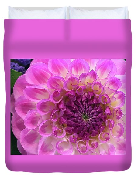 Dahlia Delight Duvet Cover