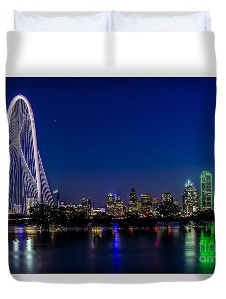 Dallas At Night Duvet Cover
