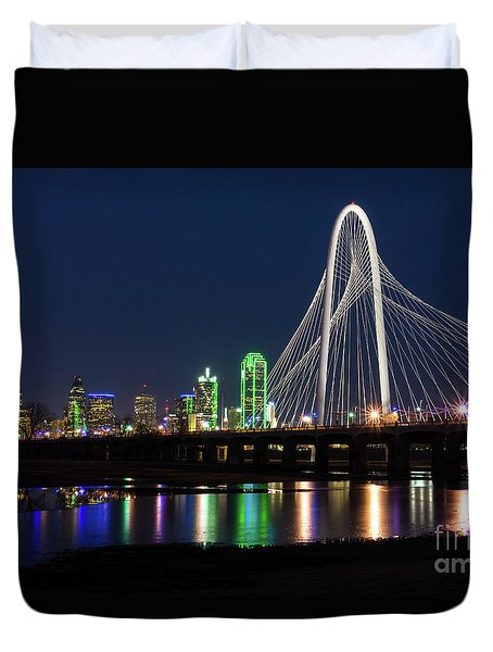Dallas Bridge View Duvet Cover