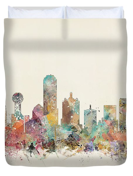 Dallas City Duvet Cover