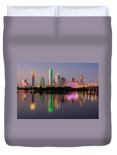 Dallas City Reflection Duvet Cover