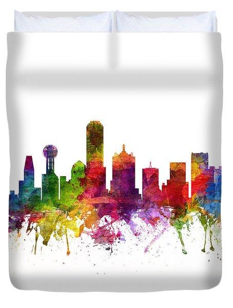 Dallas Cityscape 06 Duvet Cover by Aged Pixel