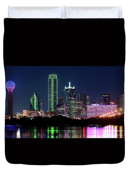 Dallas Colors Pano 2015 Duvet Cover