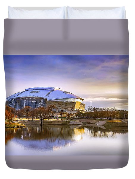 Dallas Cowboys Stadium Arlington Texas Duvet Cover