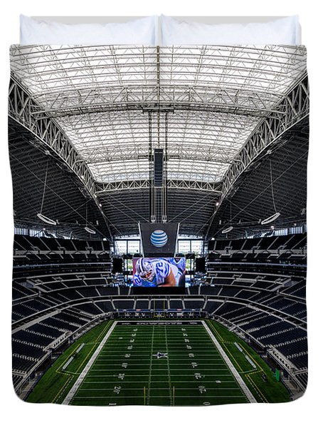 Dallas Cowboys Stadium End Zone Duvet Cover
