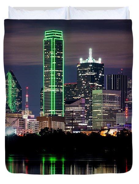 Dallas Cowboys Star Skyline Duvet Cover