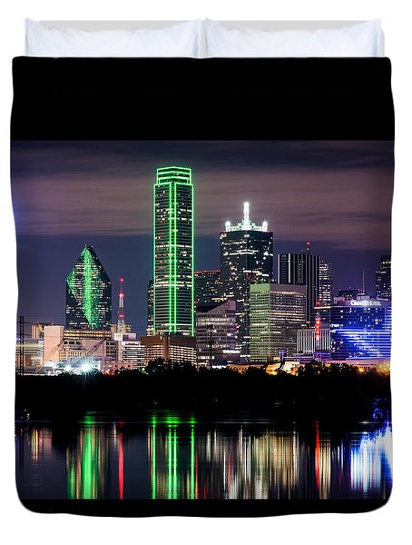 Dallas Cowboys Star Skyline Duvet Cover