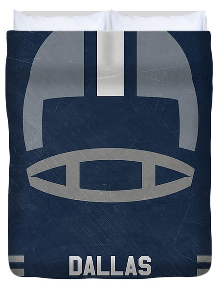 Dallas Cowboys Vintage Art Duvet Cover
