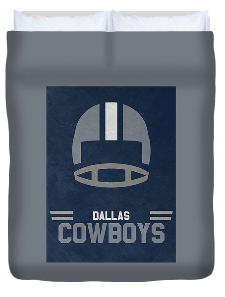 Dallas Cowboys Vintage Art Duvet Cover by Joe Hamilton