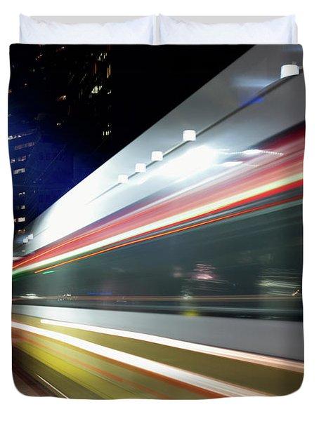 Dallas Dart Train 012518 Duvet Cover