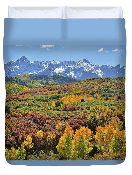 Duvet Cover featuring the photograph Dallas Divide Afternoon by Ray Mathis