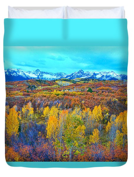 Dallas Divide Palette  Duvet Cover