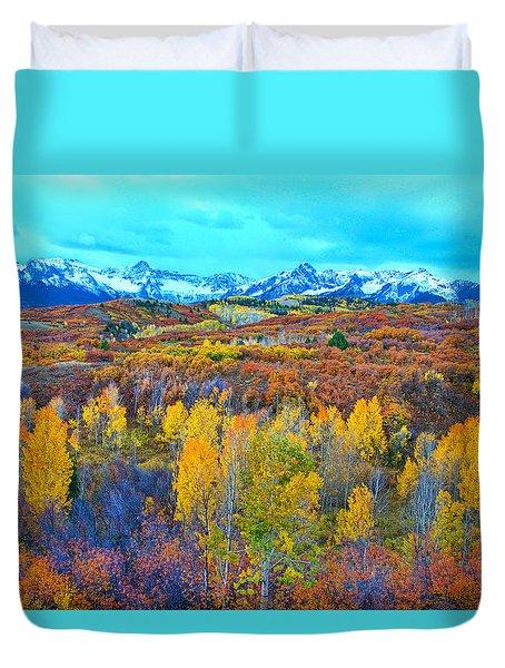 Dallas Divide Palette  Duvet Cover by Bijan Pirnia