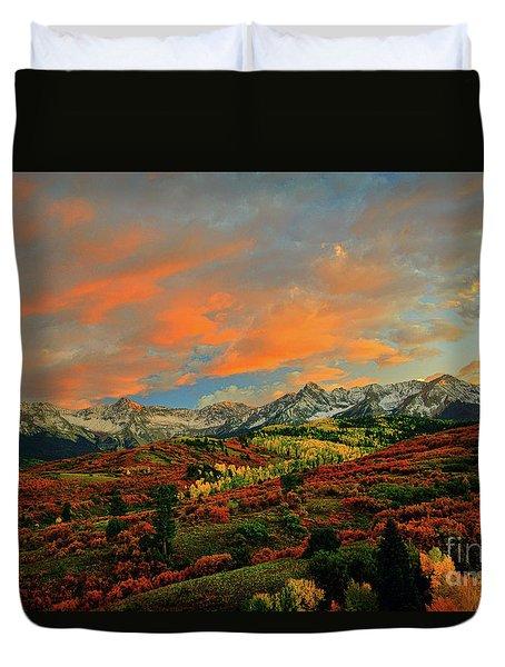 Dallas Divide Sunset - 2 Duvet Cover
