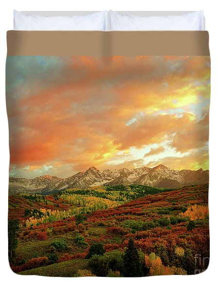 Dallas Divide Sunset Duvet Cover