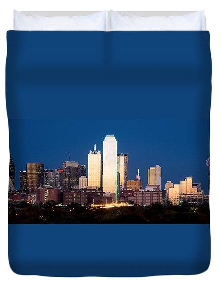 Dallas Golden Pano Duvet Cover