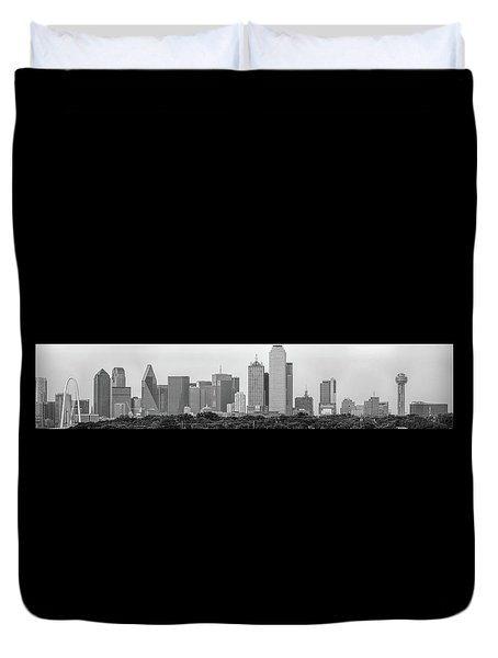 Duvet Cover featuring the photograph Dallas In Black And White by Jonathan Davison