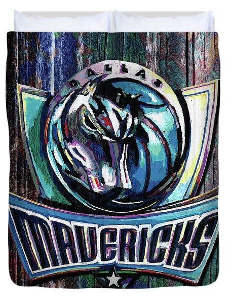 Dallas Mavericks Duvet Cover by Maria Arango