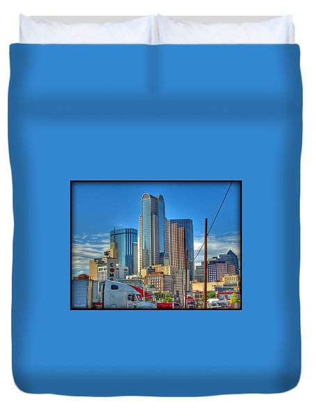 Duvet Cover featuring the photograph Dallas Morning Skyline by Farol Tomson