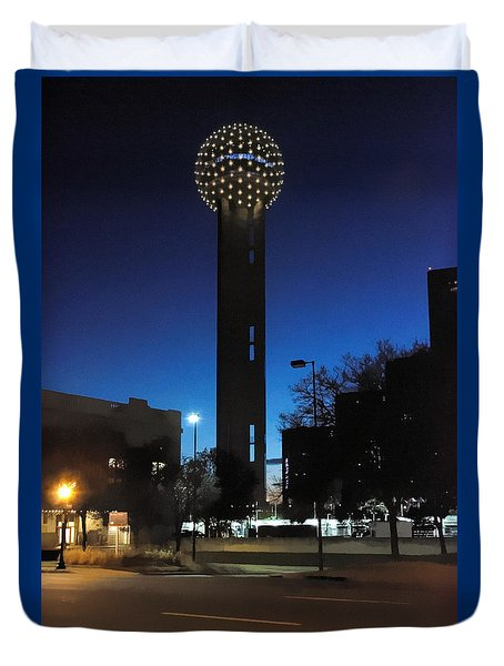 Dallas Reunion Tower Duvet Cover