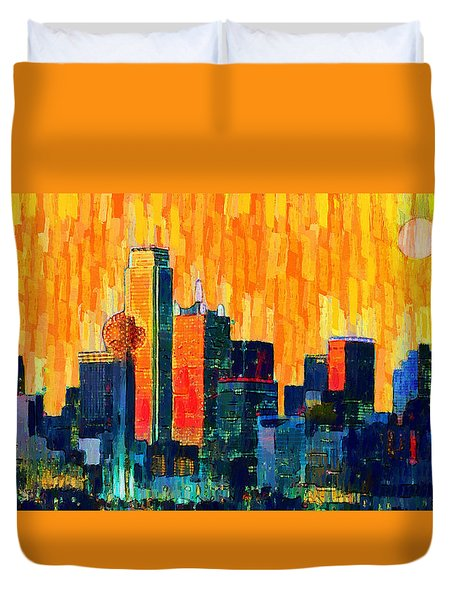 Dallas Skyline 66 - Pa Duvet Cover