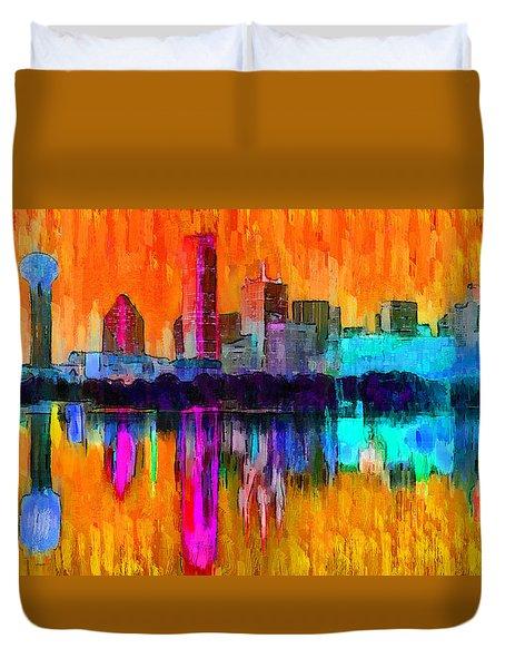 Dallas Skyline 7 - Da Duvet Cover