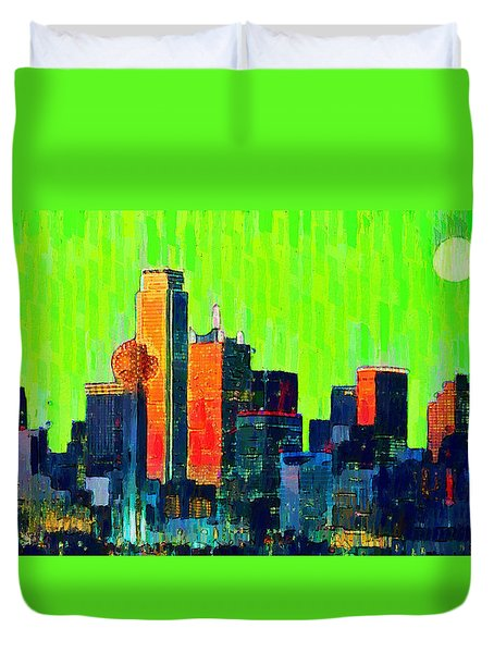 Dallas Skyline 73 - Pa Duvet Cover