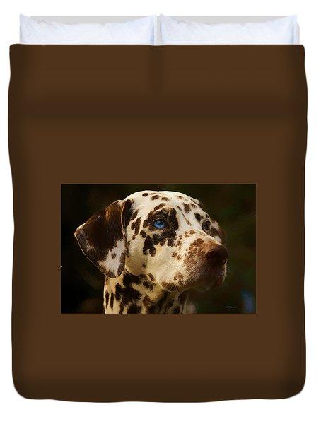 Dalmatian - Painting Duvet Cover