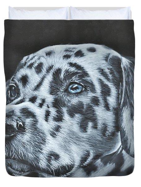 Dalmation Portrait Duvet Cover