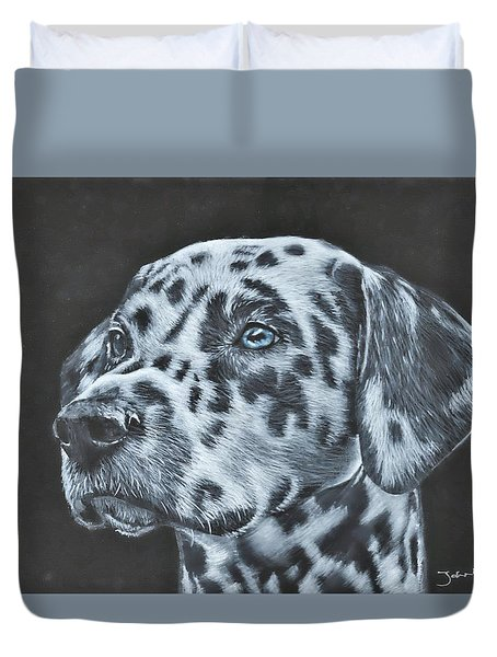 Dalmation Portrait Duvet Cover