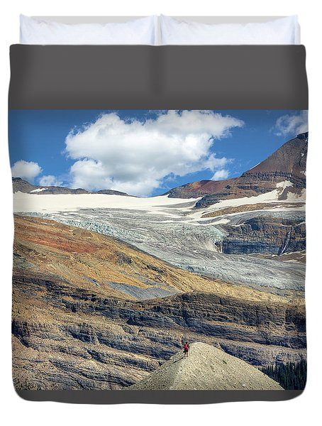 Daly Glacier And Yoho National Park Adventure Duvet Cover
