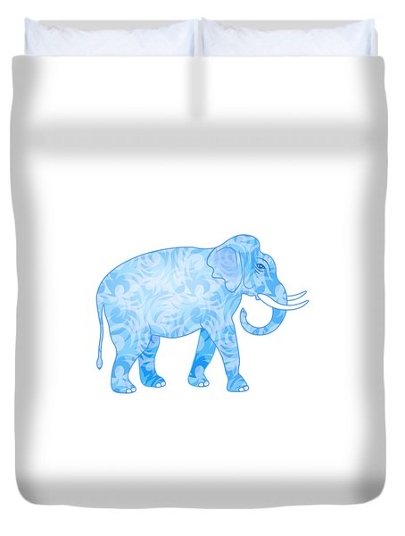Damask Pattern Elephant Duvet Cover by Antique Images