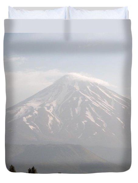 Damavand Mountain  Duvet Cover