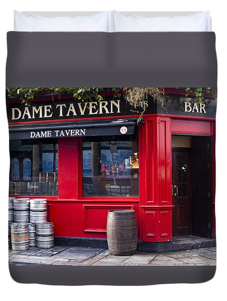 Dame Tavern Duvet Cover by Rae Tucker