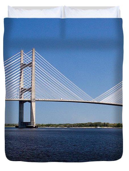 Dames Point Bridge Duvet Cover