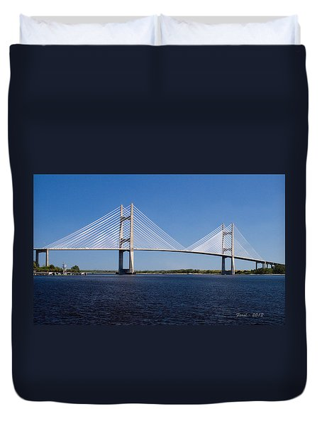 Dames Point Bridge Duvet Cover