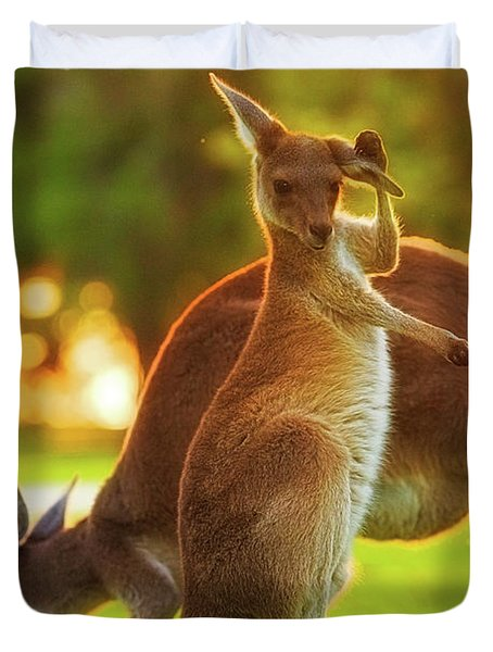 Damn Flies, Yanchep National Park Duvet Cover