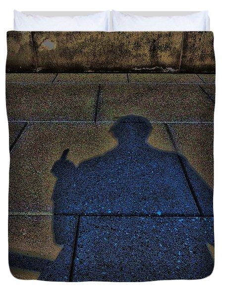 Damn Shadow Figure Duvet Cover