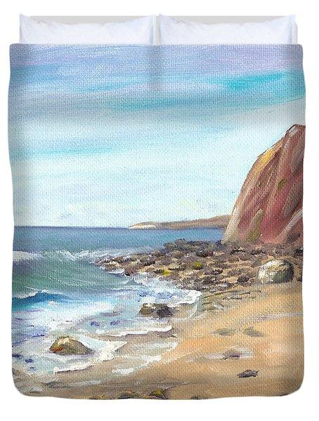 Dana Point Beach Duvet Cover