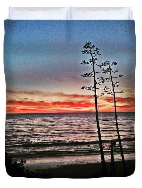Dana Point Sunset Duvet Cover